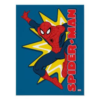 Spider-Man Callout Graphic Poster Zazzle_print