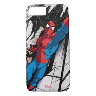Spider-Man In Abstract City iPhone 7 Case