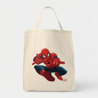 Spider-Man Shooting Web High Above City Tote Bag Zazzle_bag