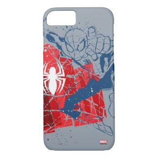 Spider-Man Worn Graphic iPhone 7 Case Casemate_case
